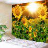 Sunset Sunflowers Print Wall Hanging Tapestry - AMERALO E VERDE