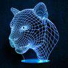 Leopard Touch Colors Changing LED Night Light - TRANSPARENT
