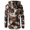 Camouflage Mesh Lining Zip Up Windbreaker Jacket - ARMY GREEN CAMOUFLAGE