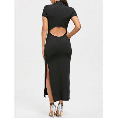 High Slit Cut Out Maxi Dress