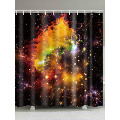 Milky Way Print Waterproof Fabric Shower Curtain