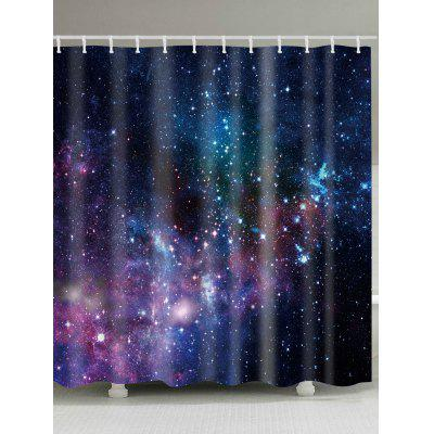 Galaxy Print Waterproof Fabric Shower Curtain