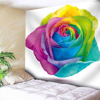 San Valentino Colorful Rose Printed Tapestry