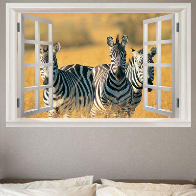 Running Zebras Pattern Wall Sticker