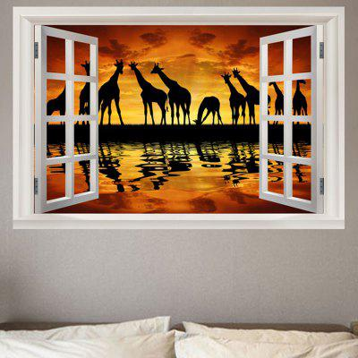 Janela Sunset Giraffe Print Environmental Removable Wall Sticker