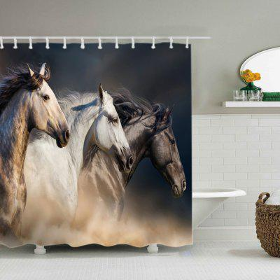 Horses Print Waterproof Fabric Shower CurtainShower Curtain<br>Horses Print Waterproof Fabric Shower Curtain<br><br>Materials: Polyester<br>Number of Hook Holes: W59 inch*L71 inch: 10; W71 inch*L71 inch: 12; W71 inch*L79 inch: 12<br>Package Contents: 1 x Shower Curtain 1 x Hooks (Set)<br>Pattern: Animal<br>Products Type: Shower Curtains<br>Style: Trendy