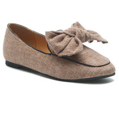 Bowknot Slip On Loafers