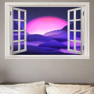 Window Starlight Printed Removable Wall Sticker