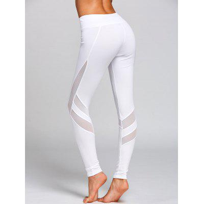 High Waist Mesh Insert Workout LeggingsPants<br>High Waist Mesh Insert Workout Leggings<br><br>Closure Type: Elastic Waist<br>Elasticity: Elastic<br>Fit Type: Skinny<br>Length: Normal<br>Material: Polyester<br>Package Contents: 1 x Leggings<br>Pant Style: Pencil Pants<br>Pattern Type: Solid<br>Style: Fashion<br>Waist Type: High<br>Weight: 0.2700kg