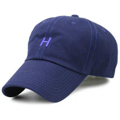 Simple H Embroidery Adjustable Baseball Hat