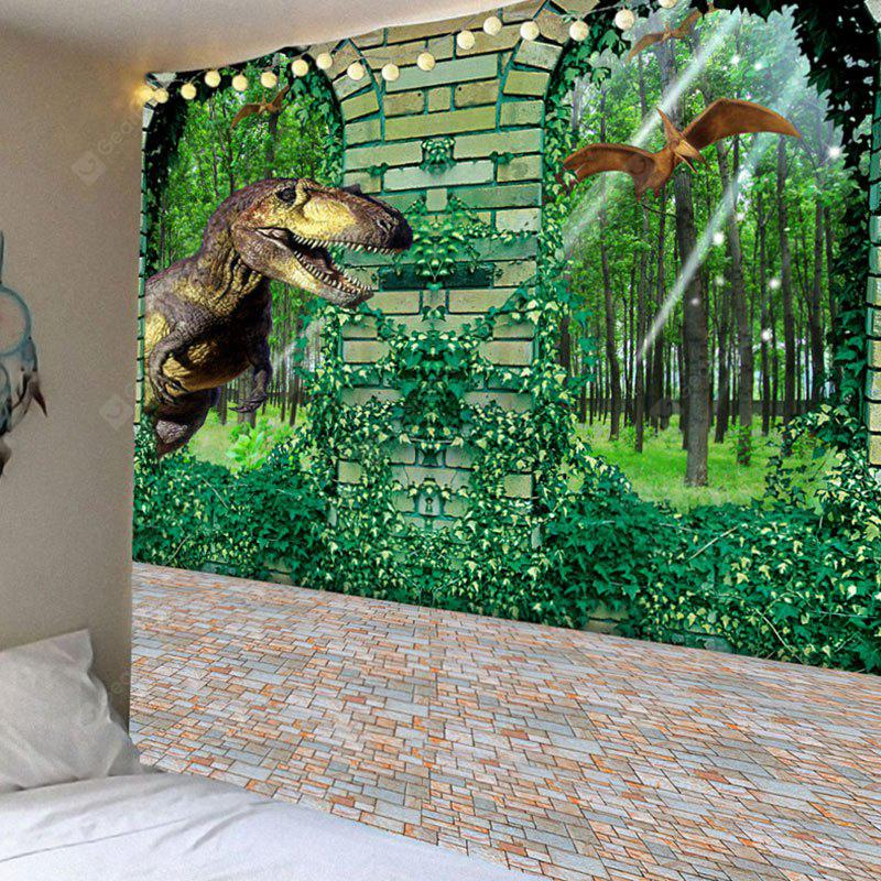 Dinosaurs in Forest Printed Home Decoration Waterproof Hanging Tapestry