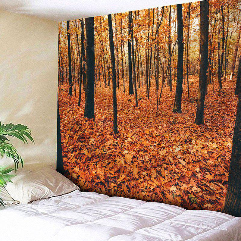 Autumn Forest Tress Fall Leaves Tapestry