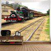 Train Printed Waterproof Wall Hanging Tapestry - COLORFUL