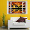 Janela Sunset Giraffe Print Environmental Removable Wall Sticker - COLORIDO