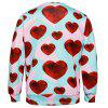 Valentine's Day Diamond Heart Print Sweatshirt - COLORMIX