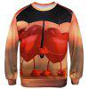 Valentine's Day 3D Hearts Print Pullover Sweatshirt - COLORMIX