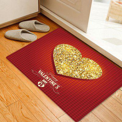 Valentine's Day Sparkly Heart Pattern Indoor Outdoor Rug
