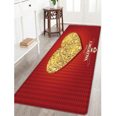 Valentine's Day Sparkly Heart Pattern Indoor Outdoor Area Rug