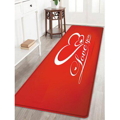 Valentine's Day Love You Pattern Floor Area Rug