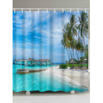 Beach Scenery Waterproof Polyester Shower Curtain