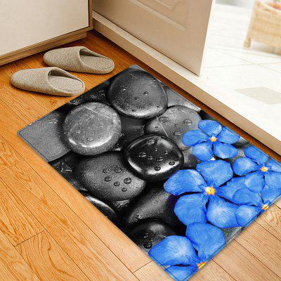 Pebbles Flowers Pattern Water Absorption Area Rug
