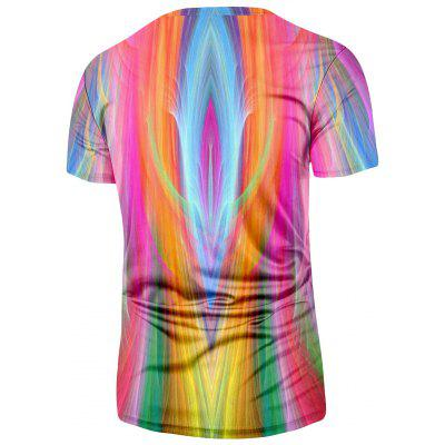 Crew Neck Colorful TeeMens Short Sleeve Tees<br>Crew Neck Colorful Tee<br><br>Collar: Crew Neck<br>Material: Polyester, Spandex<br>Package Contents: 1 x Tee<br>Pattern Type: Striped<br>Sleeve Length: Short<br>Style: Casual, Fashion<br>Weight: 0.2300kg