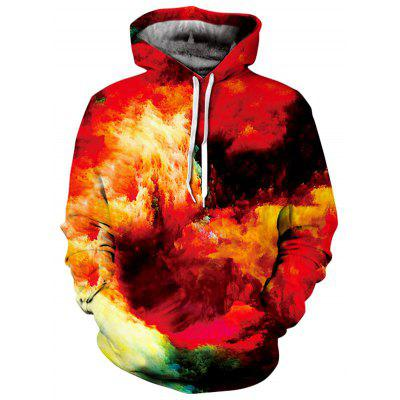 Kangaroo Pocket Burning Clouds Hoodie