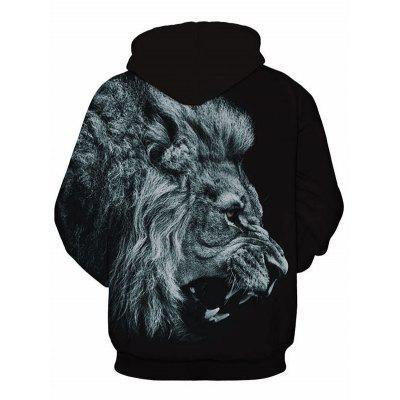 Kangaroo Pocket 3D Roaring Lion HoodieMens Hoodies &amp; Sweatshirts<br>Kangaroo Pocket 3D Roaring Lion Hoodie<br><br>Clothes Type: Hoodie<br>Material: Polyester, Spandex<br>Occasion: Sports, Going Out, Casual<br>Package Contents: 1 x Hoodie<br>Patterns: 3D,Animal<br>Shirt Length: Regular<br>Sleeve Length: Full<br>Style: Casual<br>Thickness: Regular<br>Weight: 0.4700kg