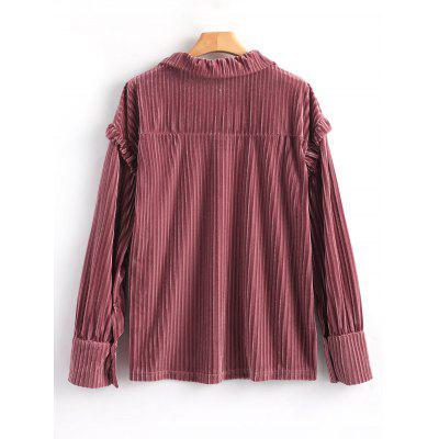 Long Sleeve Ruffle Velvet BlouseBlouses<br>Long Sleeve Ruffle Velvet Blouse<br><br>Collar: Shirt Collar<br>Elasticity: Micro-elastic<br>Embellishment: Bowknot,Ruffles<br>Fabric Type: Velvet<br>Material: Polyester<br>Occasion: Casual<br>Package Contents: 1 x Blouse<br>Pattern Type: Solid<br>Seasons: Autumn,Spring,Winter<br>Shirt Length: Regular<br>Sleeve Length: Full<br>Style: Fashion<br>Weight: 0.3600kg