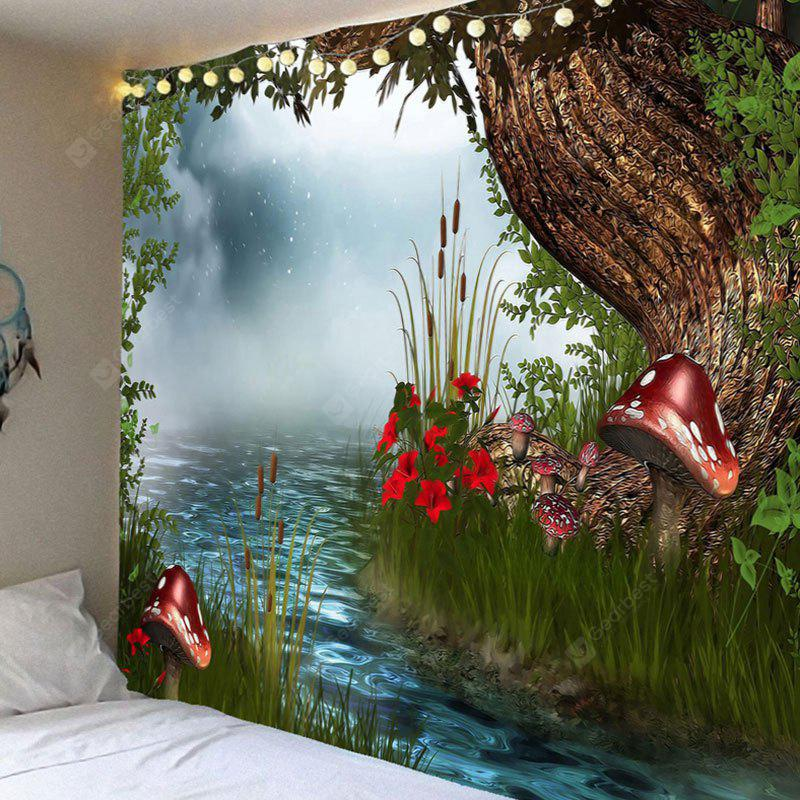 Wall Hanging Forest Cogumelo River Print Tapestry