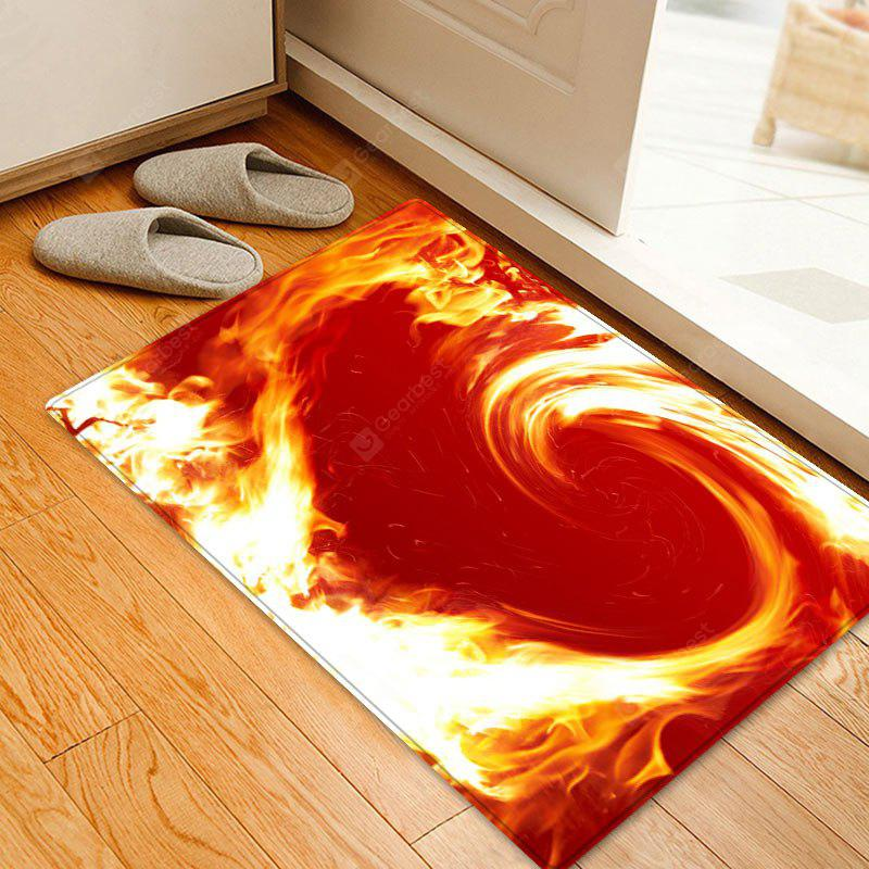 Dia dos Namorados Flame Heart Pattern Indoor Outdoor Rug