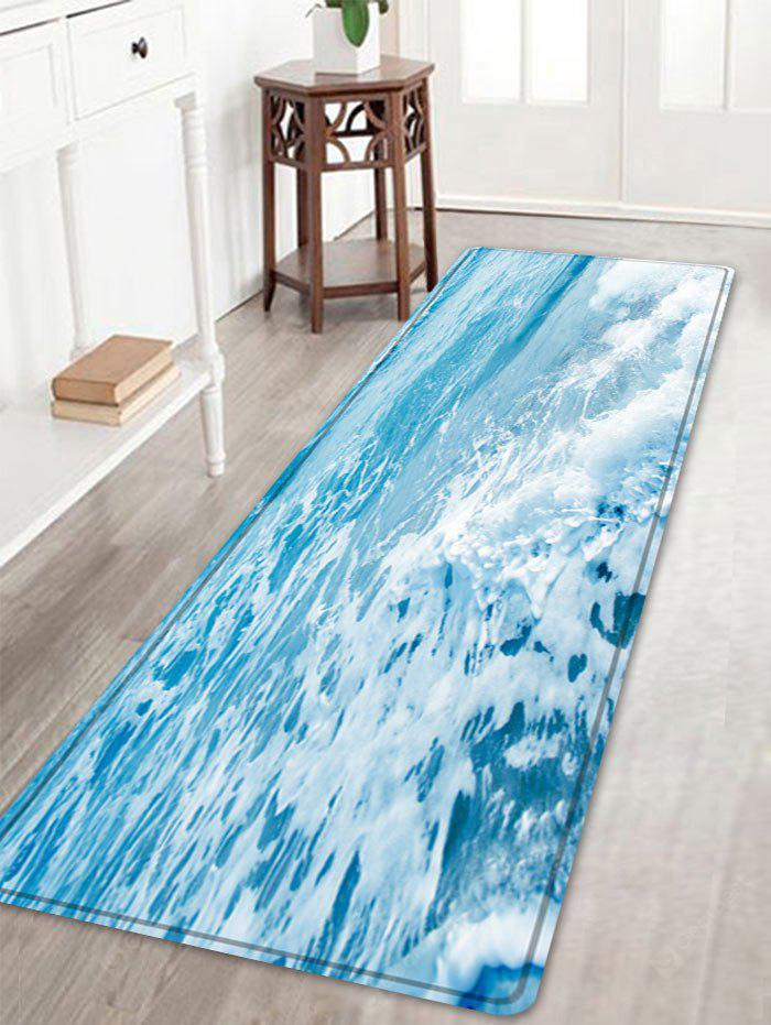 Sea Waves Pattern Anti-skid Indoor Outdoor Area Rug