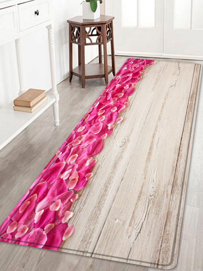 Petals On Wood Background Pattern Indoor Outdoor Area Rug