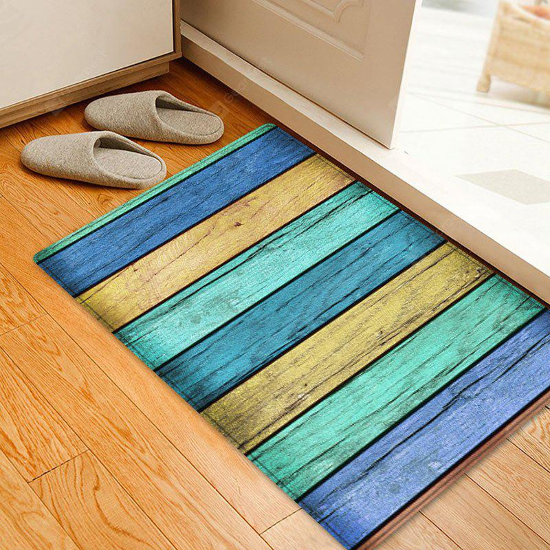 Colorful Wood Grain Pattern Indoor Outdoor Area Rug