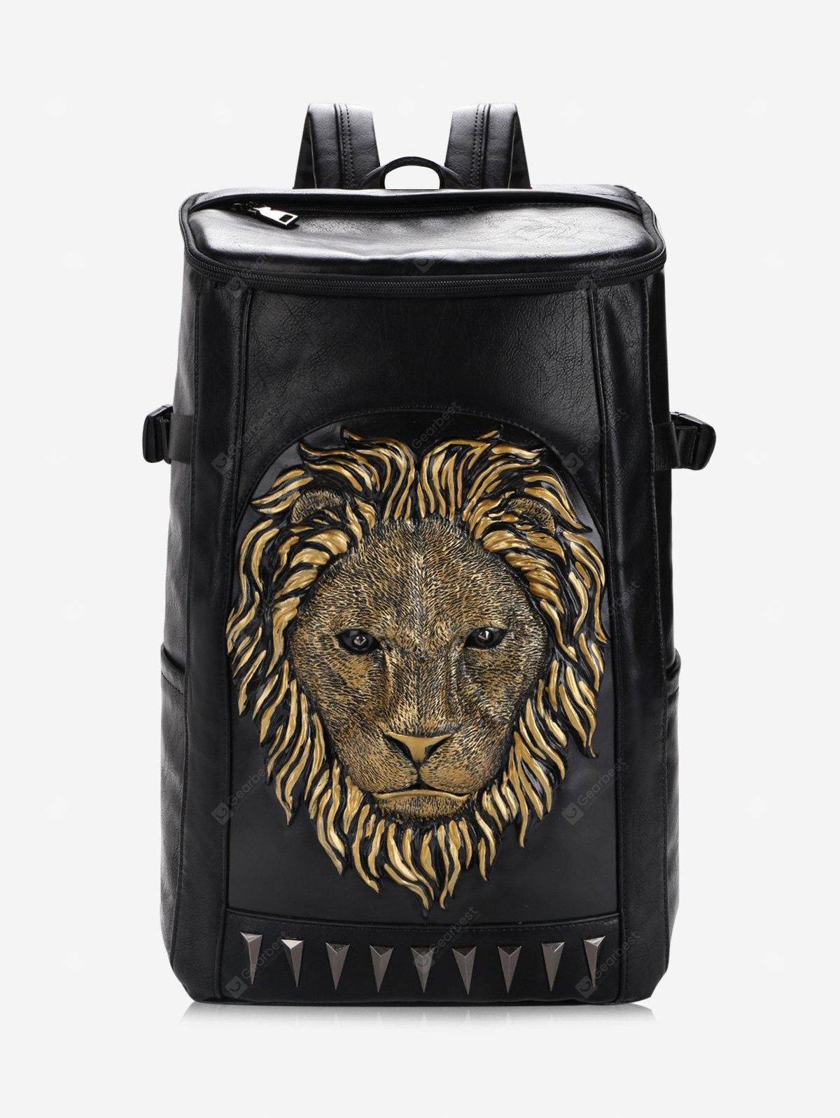 3D Lion Embellished Backpack