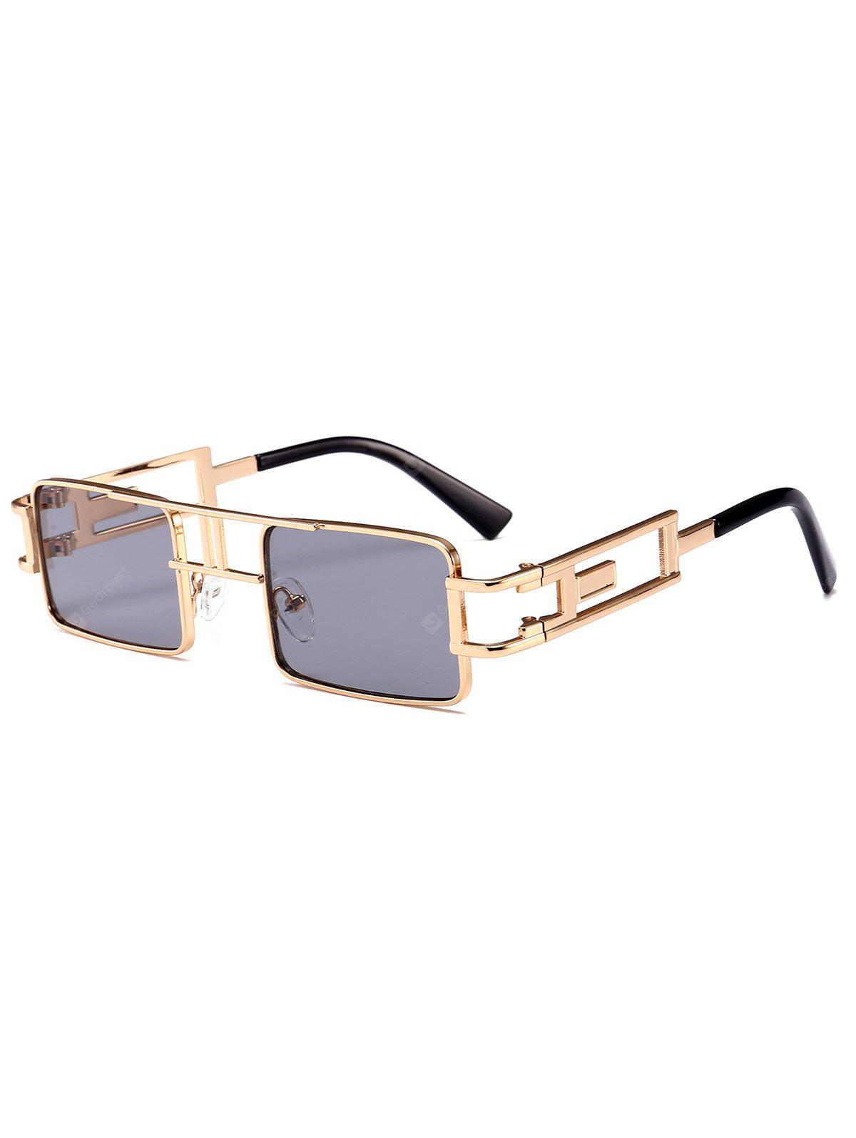 Square Sunglasses with Hollow Out Carver Frame