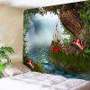 Wall Hanging Forest Cogumelo River Print Tapestry - COLORIDO