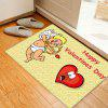 Cupid Pattern Valentine's Day Indoor Outdoor Area Rug - YELLOW