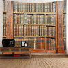 Vintage Wooden Bookrack Printed Multi Purpose Hanging Tapestry - BROWN