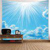 Wall Art Clear Sky and Cloud Printed Waterproof Hanging Tapestry - CADETBLUE