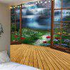 Window of Fairyland Wall Art Waterproof Hanging Tapestry - COLORFUL