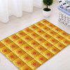 Floral Grid Pattern Indoor Outdoor Area Rug - YELLOW