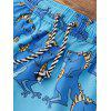 Drawstring Animals Print Beach Shorts - LIGHT BLUE