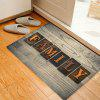 Wood Grain Family Word Pattern Indoor Outdoor Area Rug - TAUPE