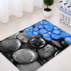 Pebbles Flowers Pattern Water Absorption Area Rug - COLORMIX