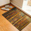 Antique Woodgrain Pattern Indoor Outdoor Area Rug - TAN