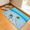 Fishes In The Sea Pattern Indoor Outdoor Area Rug - LAKE BLUE