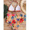 High Waisted Floral Print Bathing Suit - FLORAL