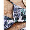 High Waisted Palm Leaf Bathing Suit - COLORMIX