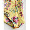 Wildflower Print Bikini Set - YELLOW